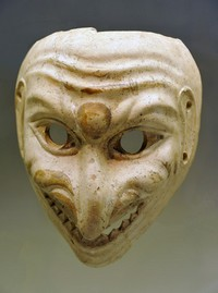 Ancient theatrical mask