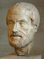Aristotle. Copy of a lost bronze bust by Lysippos (4th century B.C.)