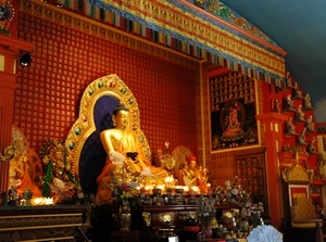 Buddha statue in Sakya Monastery of Tibetan Buddhism, Seattle, Washington