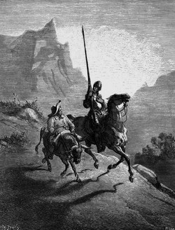 Don Quixote and Sancho Panza. Illustration by Gustave Dore (1863)