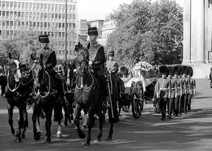 Funeral procession of Diana, Princess of Wales, 6 September 1997