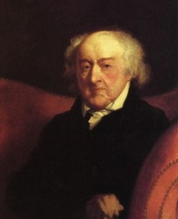 Portrait of John Adams at the age of 89 by Gilbert Stuart (1824)