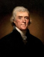 Portrait of Thomas Jefferson by Rembrandt Peale (1800)